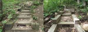 Before and After Stairs